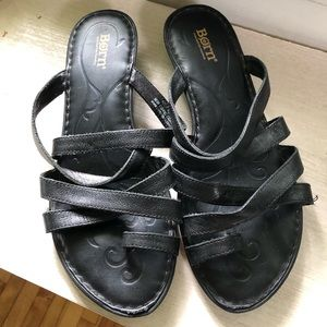 Black Leather Born Sandals